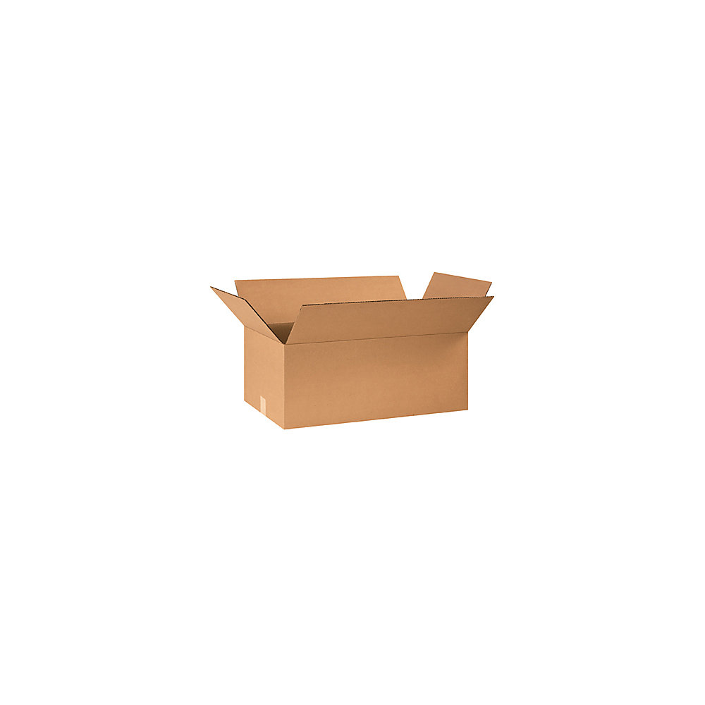 When sending out products or getting ready for a big move, reach for a batch of boxes made from rugged corrugated cardboard. Attached flaps make it easy to close cartons and seal them up before transport.  Made of corrugated cardboard to offer strength for storage and shipping.  Attached flap lid allows easy closing and sealing.  Stores flat to minimize required space.  Made of corrugated cardboard to offer strength for storage and shipping. Attached flap lid allows easy closing and sealing.