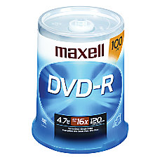 Maxell 16x DVD R Media 120mm