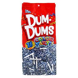 Dum Dums Blueberry Lollipops Color Party