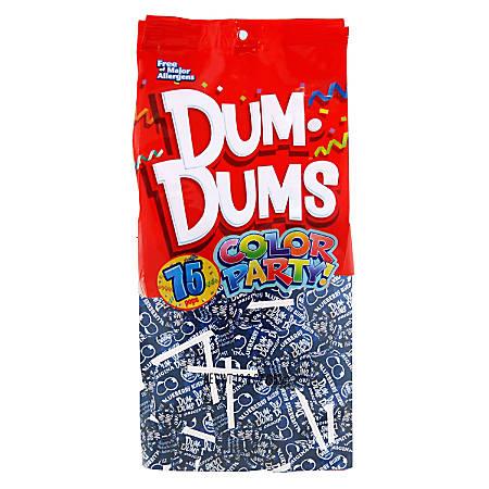 Dum Dums Blueberry Lollipops, Color Party Blue, 75 Pieces Per Bag, Pack Of 2 Bags
