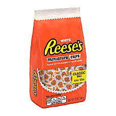 REESES Peanut Butter Cup White Miniatures