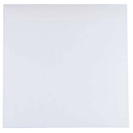 "JAM Paper® Square Invitation Envelopes, 9 1/2"" x 9 1/2"", White, Pack Of 25"