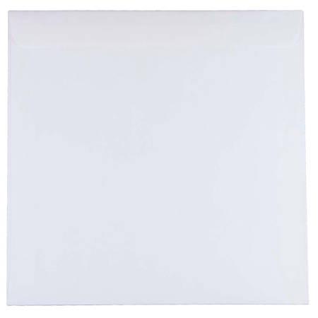 """JAM Paper® Square Invitation Envelopes, 11 1/2"""" x 11 1/2"""", White, Pack Of 25"""
