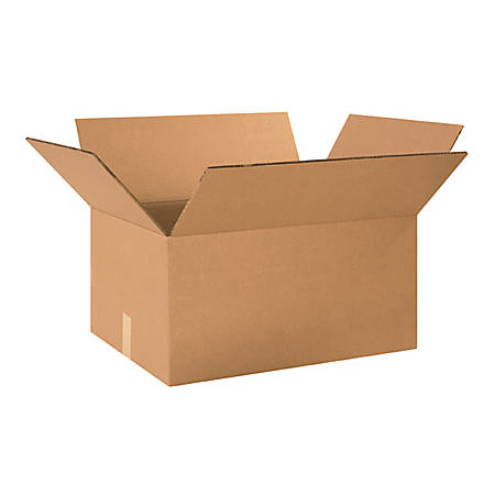 24in(L) x 18in(W) x 12in(D) - Corrugated Heavy-Duty Doublewall Shipping Boxes