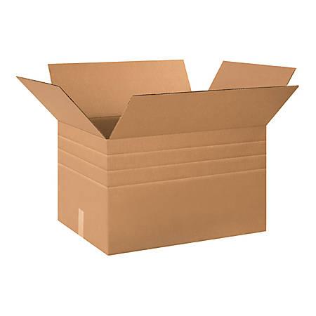 24in(L) x 18in(W) x 18in(D) - Corrugated Multi-Depth Shipping Boxes