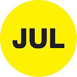 Tape Logic Yellow JUL Months of