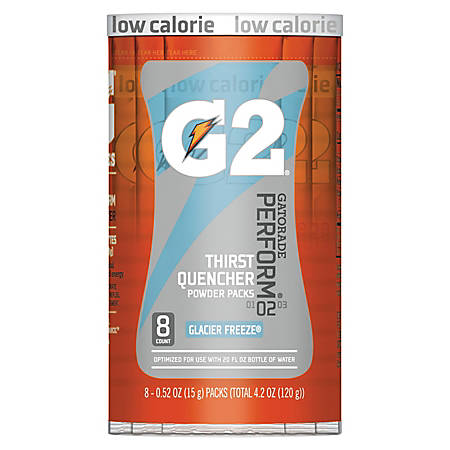 Gatorade Powder Drink Mix, Glacier Freeze, 0.52 Oz, Tube Of 8