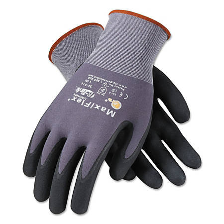 Bouton® MaxiFlex® Ultimate™ Nitrile Gloves, Medium, Black/Gray, Pack Of 12 Pairs