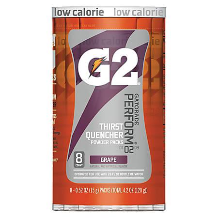 Gatorade Powder Drink Mix, Grape, 0.4 Oz, Tube Of 8