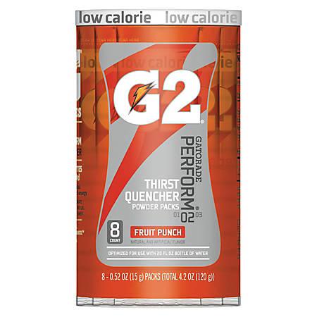 Gatorade Powder Drink Mix, Fruit Punch, 0.4 Oz, Tube Of 8