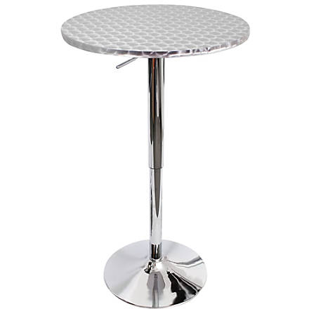 LumiSource Bistro Bar Table, Silver