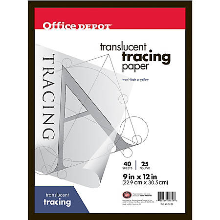 """Office Depot® Brand Tracing Pad, 9"""" x 12"""", 40 Sheets"""
