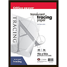 Office Depot Brand Tracing Pad 9