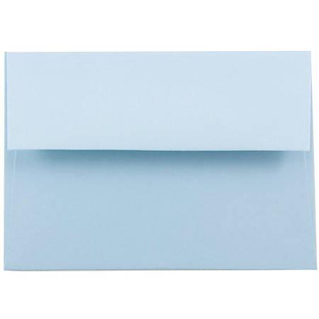 "JAM Paper® Booklet Invitation Envelopes, A2, 4 3/8"" x 5 3/4"", Light Baby Blue, Pack Of 25"