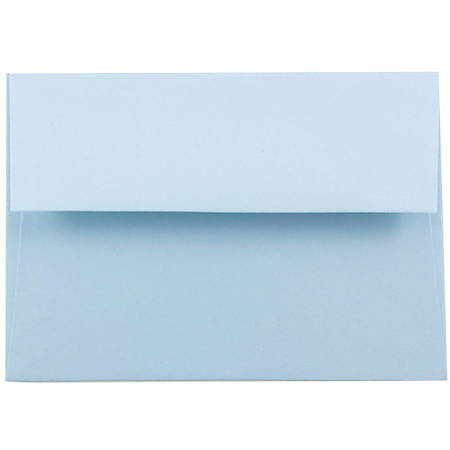 "JAM Paper® Booklet Invitation Envelopes, A7, 5 1/4"" x 7 1/4"", Light Baby Blue, Pack Of 25"