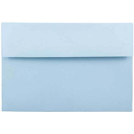 "JAM Paper® Booklet Invitation Envelopes, A8, 5 1/2"" x 8 1/8"", Light Baby Blue, Pack Of 25"