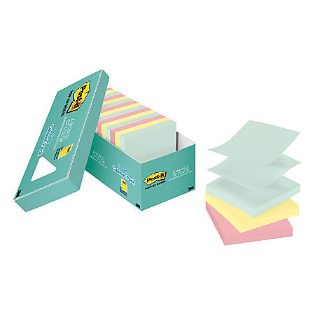 """Post it® Pop up Notes, 3"""" x 3"""", Marseille, Pack Of 18 Pads"""