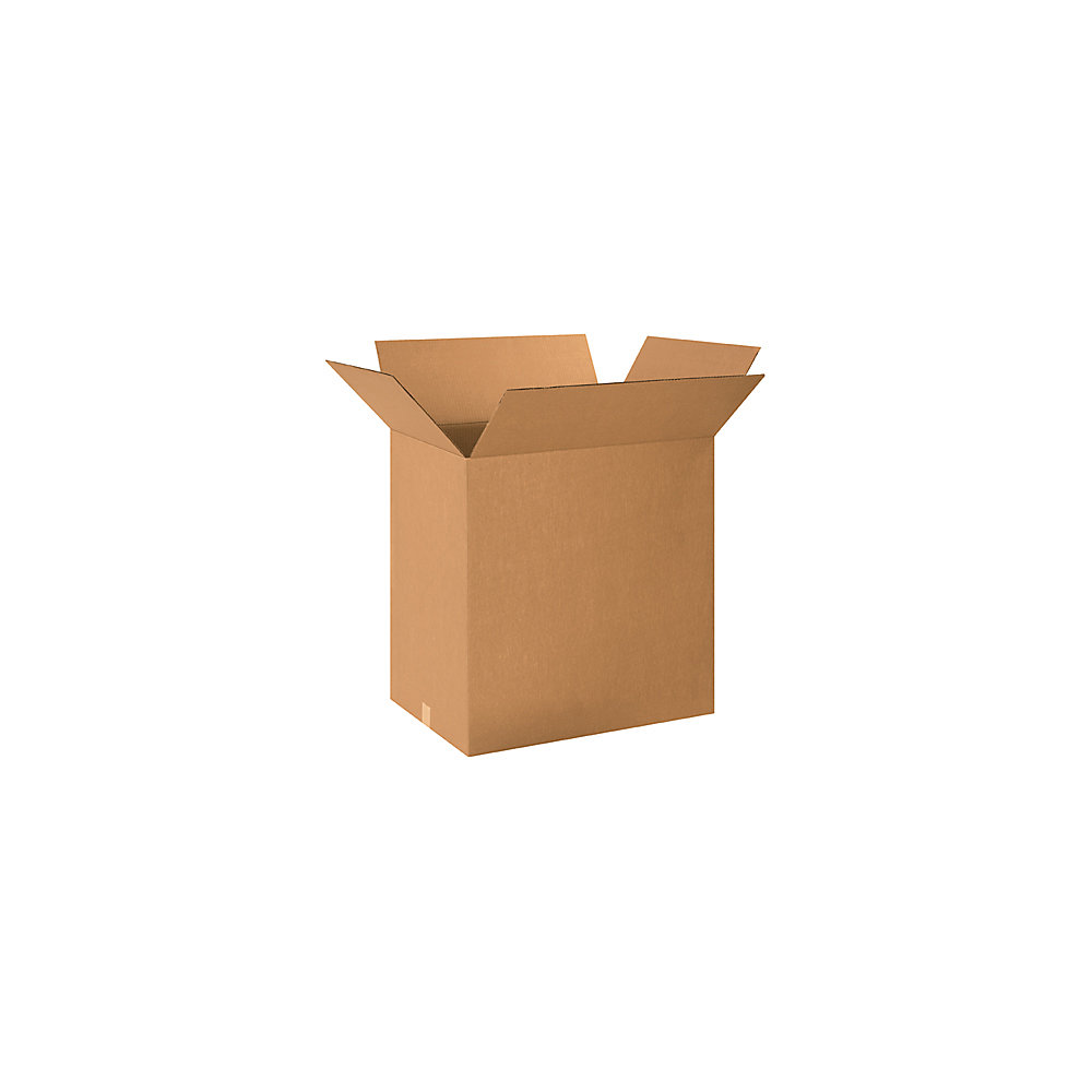 Manufactured from 200#/ECT-32 kraft corrugated. Carton capacity is 6.0 cubic feet.  Popular size to pack large items like pillows or baskets. Cartons are sold in bundle quantities and ship flat to save on storage space and shipping.