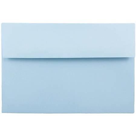 "JAM Paper® Booklet Invitation Envelopes, A10, 6"" x 9 1/2"", Baby Blue, Pack Of 25"
