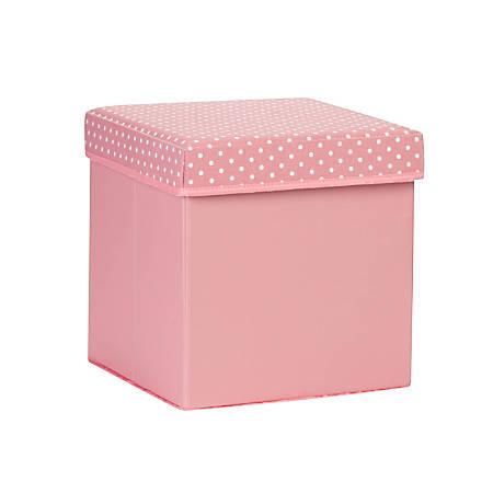 "Honey-Can-Do Kids' Storage Cube, 12 1/2""H x 12""W x 12""D, Pink"