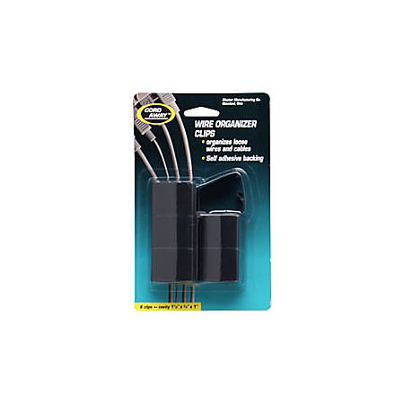 Master Caster® Cord Away® Wire Clips, Pack Of 6
