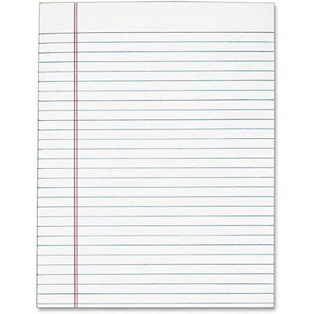 "Tops Gum Top Pad - 50 Sheets - Plain - Glue - 8 1/2"" x 11"" - White Paper - 12 / Pack"