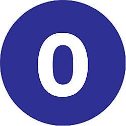 Tape Logic Dark Blue 0 Number
