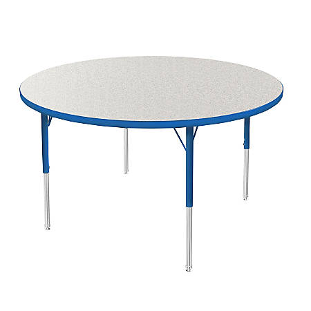 """Marco Group 48"""" Activity Table, Round, 21 - 30""""H, Gray Glace/Blue"""