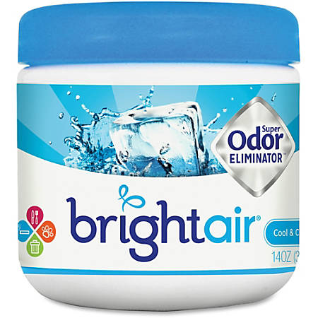 Bright Air Super Odor Eliminator Air Freshener - Gel - 14 fl oz (0.4 quart) - Cool, Clean - 60 Day - 6 / Carton