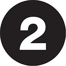 Tape Logic Black 2 Number Labels