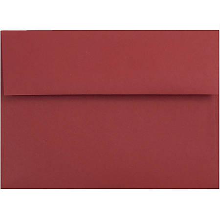 "JAM Paper® Booklet Invitation Envelopes, A6, 4 3/4"" x 6 1/2"", Dark Red, Pack Of 25"