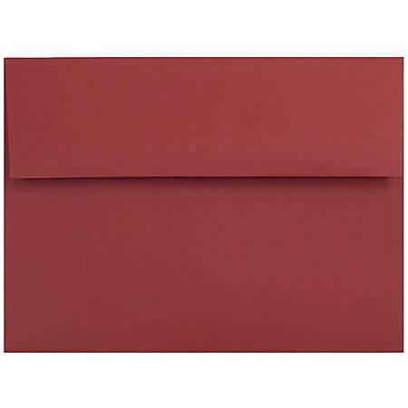 "JAM Paper® Booklet Invitation Envelopes, A7, 5 1/4"" x 7 1/4"", Dark Red, Pack Of 25"