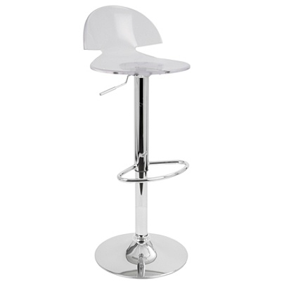 Lumisource Venti Acrylic Bar Stool 38 H X 16 W X 16 D Chromeclear