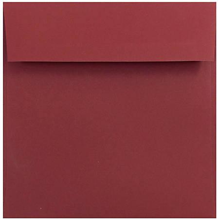 jam paper color square invitation envelopes 6 x 6 dark red pack of