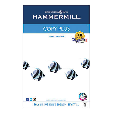 Hammermill® Paper, Tidal® MP, Ledger Paper, 20 Lb, Ream Of 500 Sheets