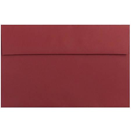 "JAM Paper® Booklet Invitation Envelopes, A10, 6"" x 9 1/2"", Dark Red, Pack Of 25"