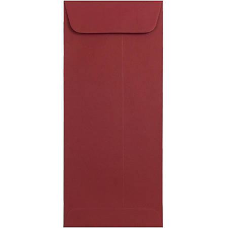 """JAM Paper® Policy Envelopes, #10 4 1/8"""" x 9 1/2"""", Dark Red, Pack Of 25"""