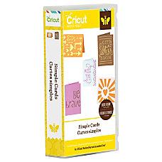 Cricut Project Cartridge Simple Cards