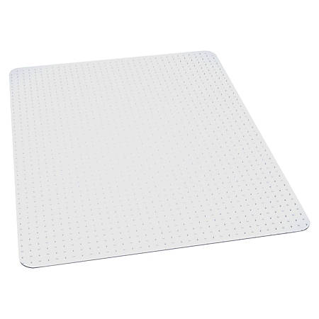 "ES Robbins Task Series AnchorBar Carpet Chair Mat, Rectangular, 46""W x 60""D, Clear"
