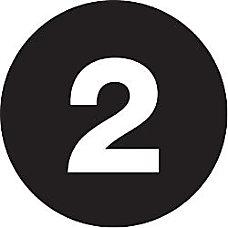 Tape Logic Black Number Labels 2