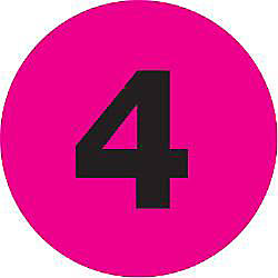 Tape Logic Fluorescent Pink 4 Number