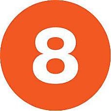 Tape Logic Orange 8 Number Labels