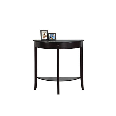 Monarch Specialties Console Table, Crescent, Single Drawer, Dark Cherry