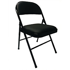 Realspace Metal Folding Chair Vinyl Padded