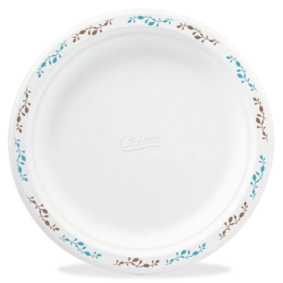 Chinet Compostable Round Vines Plates 8.75 Diameter Plate Molded Fiber Plate Disposable Microwave Safe 500 Pieces Carton by Office Depot \u0026 OfficeMax  sc 1 st  Office Depot & Chinet Compostable Round Vines Plates 8.75 Diameter Plate Molded ...