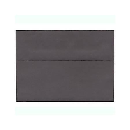 "JAM Paper® Booklet Invitation Envelopes, A7, 5 1/4"" x 7 1/4"", Dark Gray, Pack Of 25"