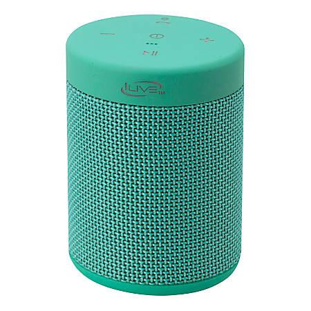 """iLive ISBW108 Bluetooth® Waterproof Speaker, 3.5""""H x 2.6""""W x 2.6""""D, Teal, ISBW108TQ"""