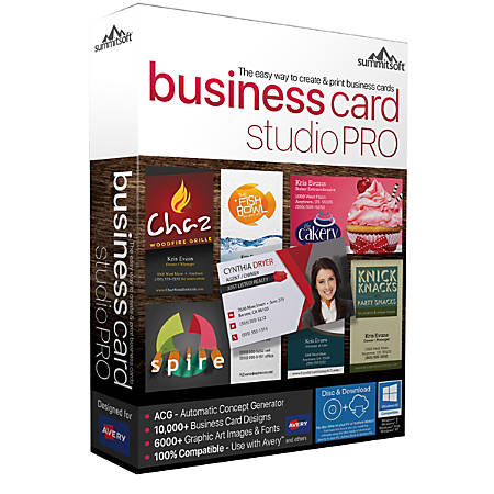 Summitsoft® Business Card Studio Pro 11, Traditional Disc
