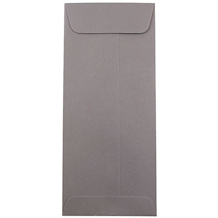 "JAM Paper® Policy Envelopes, #10, 4 1/8"" x 9 1/2"", Gray, Pack Of 25"