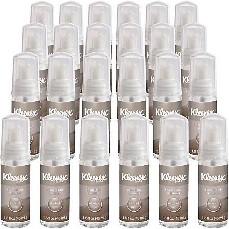 Kleenex 1.5oz Alcohol-free Foam Sanitizer - 1.50 oz - Kill Germs - Hand - Clear - Alcohol-free, Moisturizing, Antimicrobial, Dye-free, Fragrance-free, Non-flammable - 24 / Carton